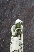 Garden Scene Mixed Media - Winter Prayers by adSpice Statues