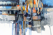 Old Houses Mixed Media - Winter Prism by Jim Bray