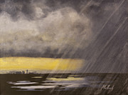 Storm Clouds Paintings - Winter Rain by Jack Malloch