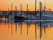 Harbor  Sesuit Harbor Framed Prints - Winter Reflection Framed Print by Amazing Jules