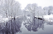 Snowstorm Photos - Winter Reflections by Andrew Soundarajan