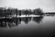 Fox River Prints - Winter Reflections Print by Lauri Novak