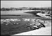 White River Scene Photo Originals - Winter River. by Terence Davis