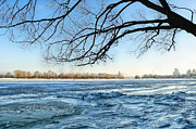 Framing Framed Prints - Winter riverscape Framed Print by Igor Baranov