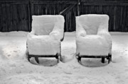 Chairs Art - Winter Romance by Christine Till