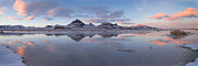 Desert Lake Framed Prints - Winter Salt Flats Framed Print by Chad Dutson