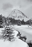 Candian Prints - Winter Scene Canadian Rockies Print by Yves Gagnon