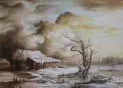 Tablou Art - Winter Scene by Dan Scurtu
