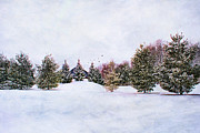 Snowstorm Art - Winter Scene by Darren Fisher