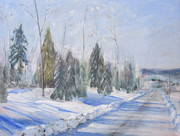 White Moon Studio Framed Prints - Winter Scene  Framed Print by Kazumi Whitemoon