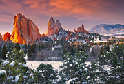 Garden Of The Gods Framed Prints - Winter Serenity Framed Print by Tim Reaves