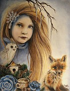 Child Pastels Posters - Winter Poster by Sheena Pike