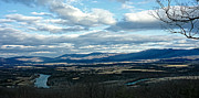 Mountain View Photos - Winter Shenandoah River View by Lara Ellis