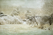 Snow-covered Landscape Prints - Winter Silence Print by Julie Palencia