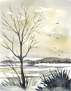 Winter Sky Print by Joan A Hamilton