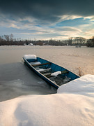 Winter Landscapes Photo Metal Prints - Winter sleep Metal Print by Davorin Mance