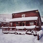 Shed Photo Prints - Winter Sleep Print by Priska Wettstein