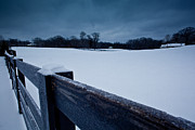 Franklin Farm Posters - Winter Snow on Farm Poster by John Magyar Photography