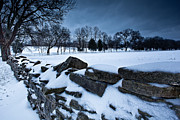 Franklin Farm Posters - Winter Snow on Slave Wall Poster by John Magyar Photography