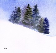 Snowstorm Paintings - Winter Snowfall by Anne Duke