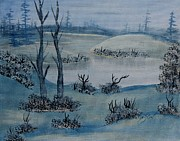 Snow Drifts Paintings - Winter Solitude by Barbara Griffin