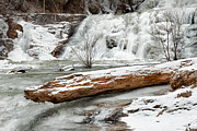 Waterfalls Prints - Winter Solitude Print by Bill  Wakeley