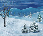 Scenery Mixed Media Metal Prints - Winter Solstice Metal Print by Bedros Awak