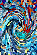 Quilt Blocks Digital Art Prints - Winter Solstice Print by Jason Rizzo