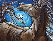 Winter Solstice Moon Print by Jonelle T McCoy