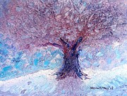 Snowy Trees Paintings - Winter Solstice by Shana Rowe