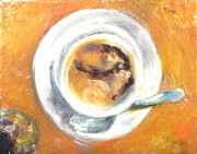 Pottery Paintings - Winter Soup and Wine by Timi Johnson