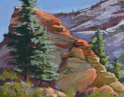 Zion National Park Pastels - Winter Sparkle by Patricia Rose Ford