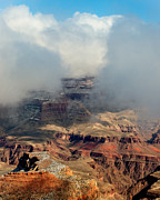 Layered Prints - Winter Storm North Rim Grand Canyon National Park Print by Troy Montemayor