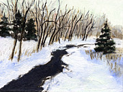 J Reifsnyder Prints - Winter stream Print by J Reifsnyder