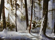 Snowscape Art - Winter sun by Gun Legler