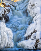 Ice Metal Prints - Winter Sunrise Great Falls Metal Print by Bob Orsillo
