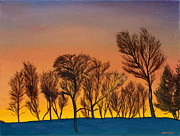 Paintings Available As Prints - Winter Sunrise by Phillip Compton