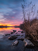Fire Stones Prints - Winter sunset Print by Davorin Mance