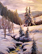 Featured Originals - Winter Sunset by Diane Daigle