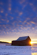 Michael Huddleston - Winter Sunset on the Farm