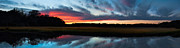 Stacey Sather - Winter sunset over...