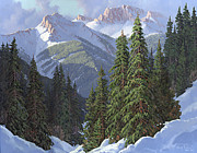 Snow Scene Metal Prints - Winter Sunshine Metal Print by Randy Follis