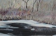 Carolyn Speer - Winter Swan On River