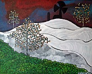 Abstract Windmill. Paintings - Winter Thaw by Matthew J Pfeiffer