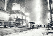 Winter Night Prints - Winter - Times Square - New York City Print by Vivienne Gucwa