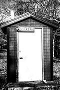 Shed Photo Prints - Winter Toilet Print by Karol  Livote