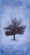 Emmanouil Klimis Prints - Winter Tree Print by Emmanouil Klimis