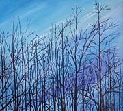 Ellen Canfield - Winter trees against a...