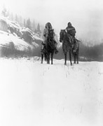 Snow Drifts Metal Prints - Winter Trek   1908 Metal Print by Daniel Hagerman