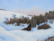 Sask Originals - Winter Valley 1 by Linda Koch